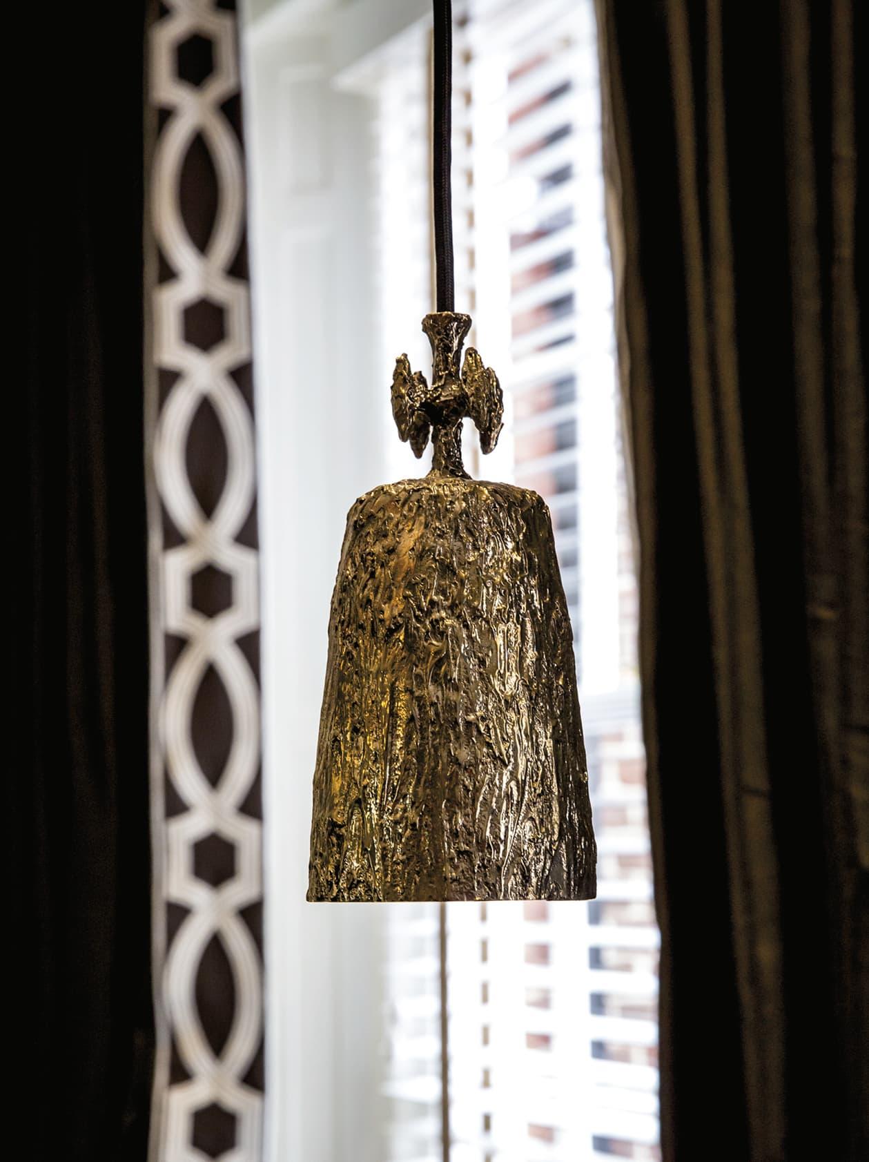 Closeup of a decorative light