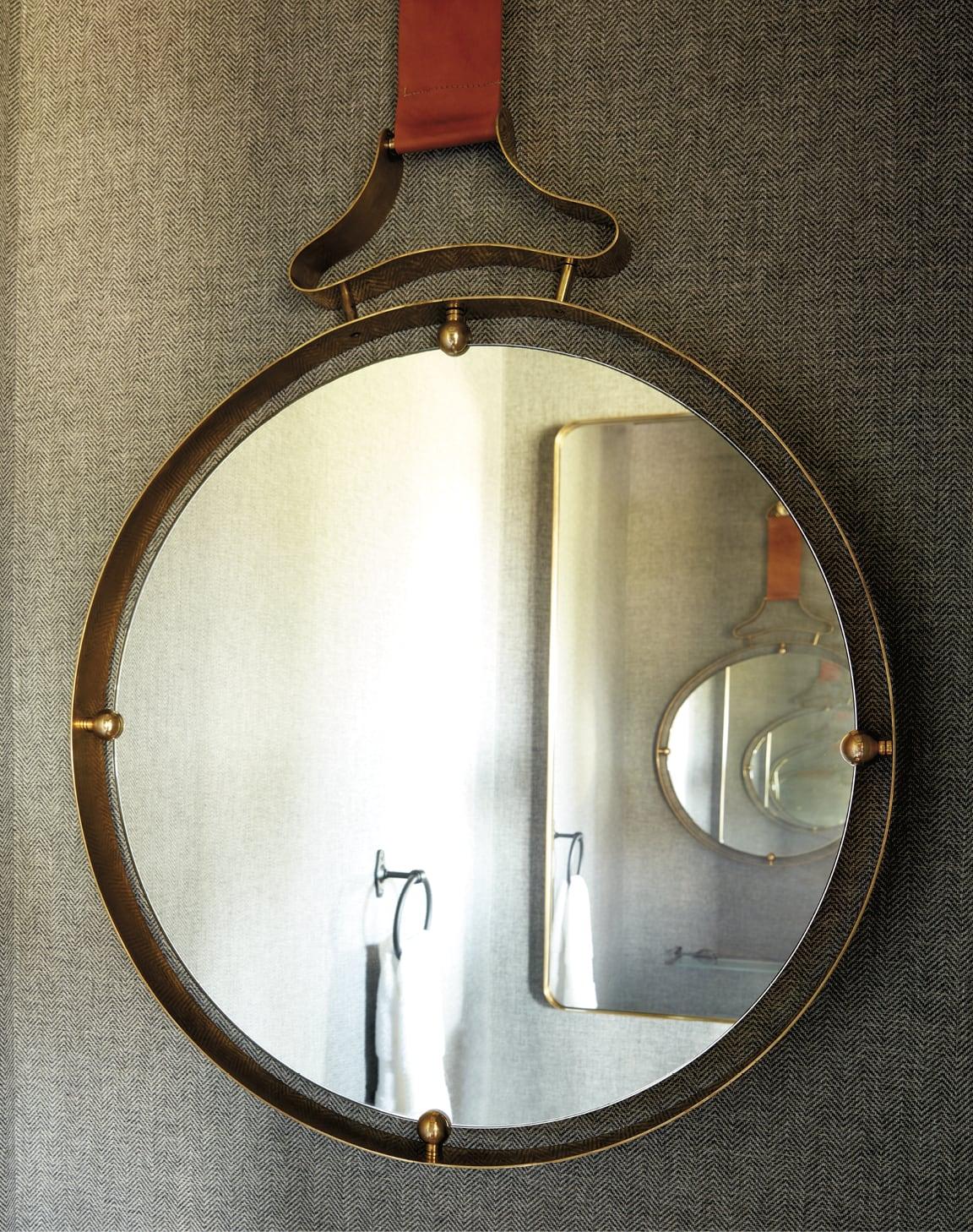Closeup of a mirror