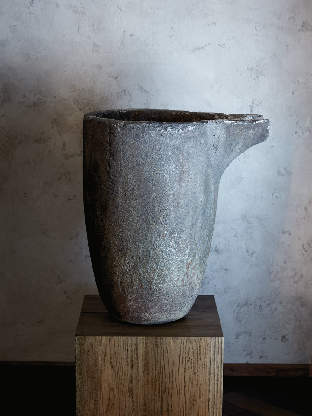 Silver pouring bucket