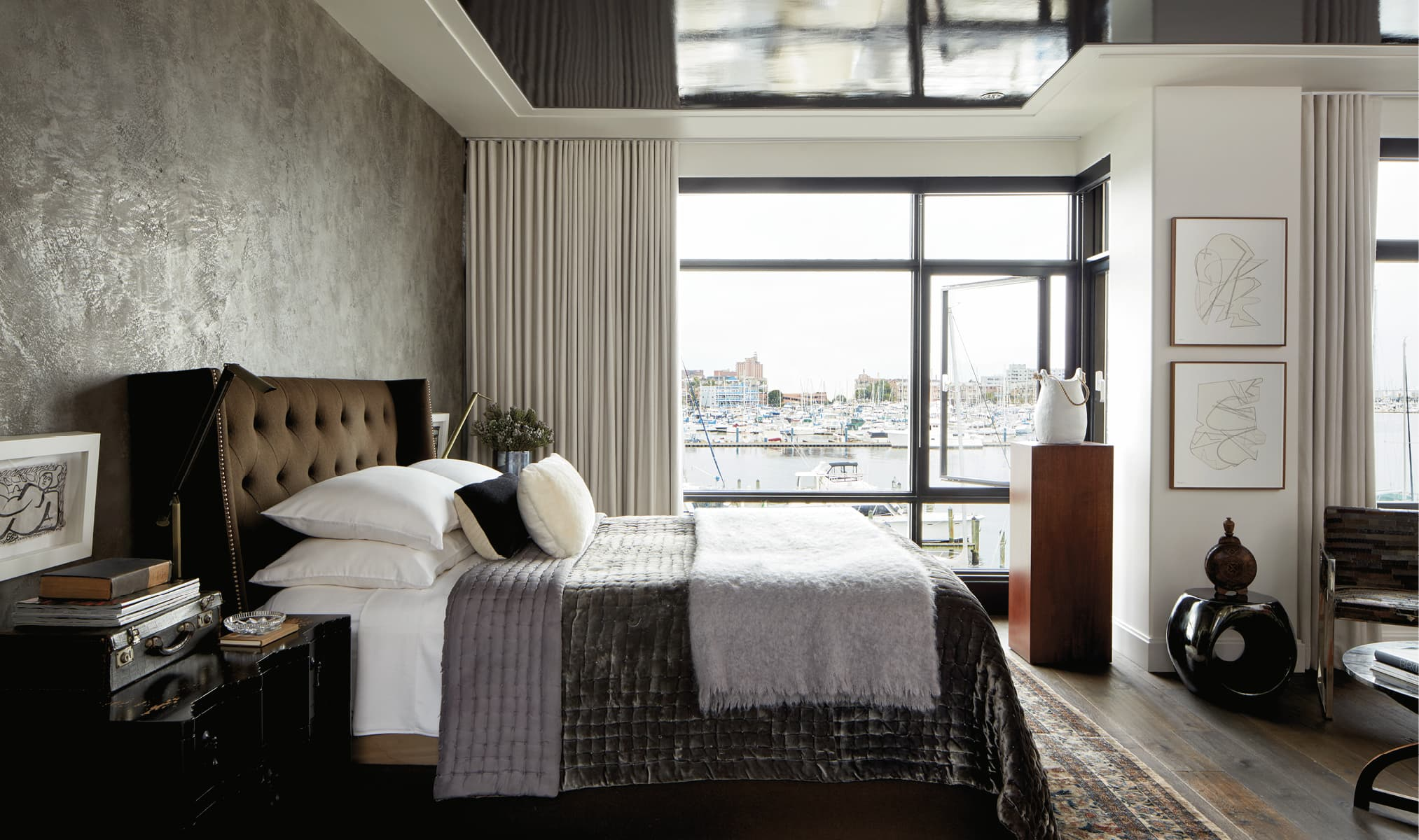 Bedroom looking out over the harbor