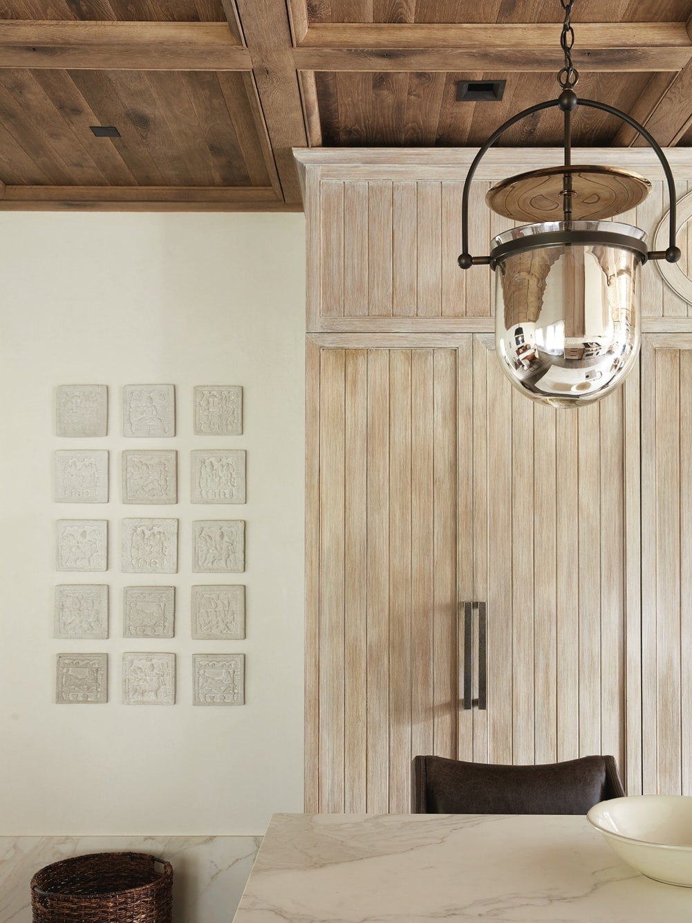 Kitchen pantry and light fixture